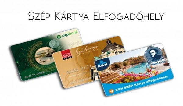SZÉPkártya elfogadóhely, mindhárom zseb használható